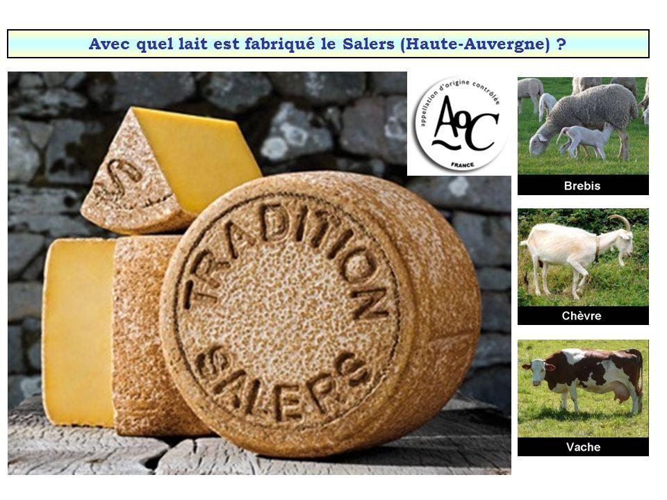 Avec quel lait est fabriqué le Salers (Haute-Auvergne)