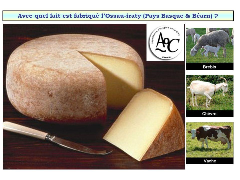 Avec quel lait est fabriqué l'Ossau-iraty (Pays Basque & Béarn)
