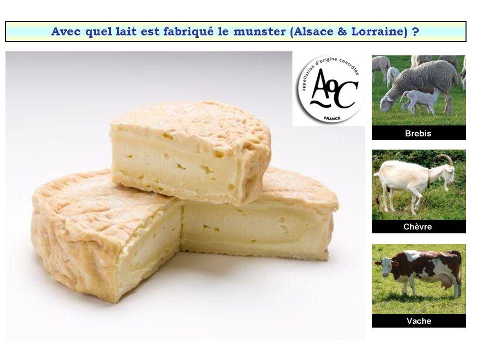 Avec quel lait est fabriqué le munster (Alsace & Lorraine)