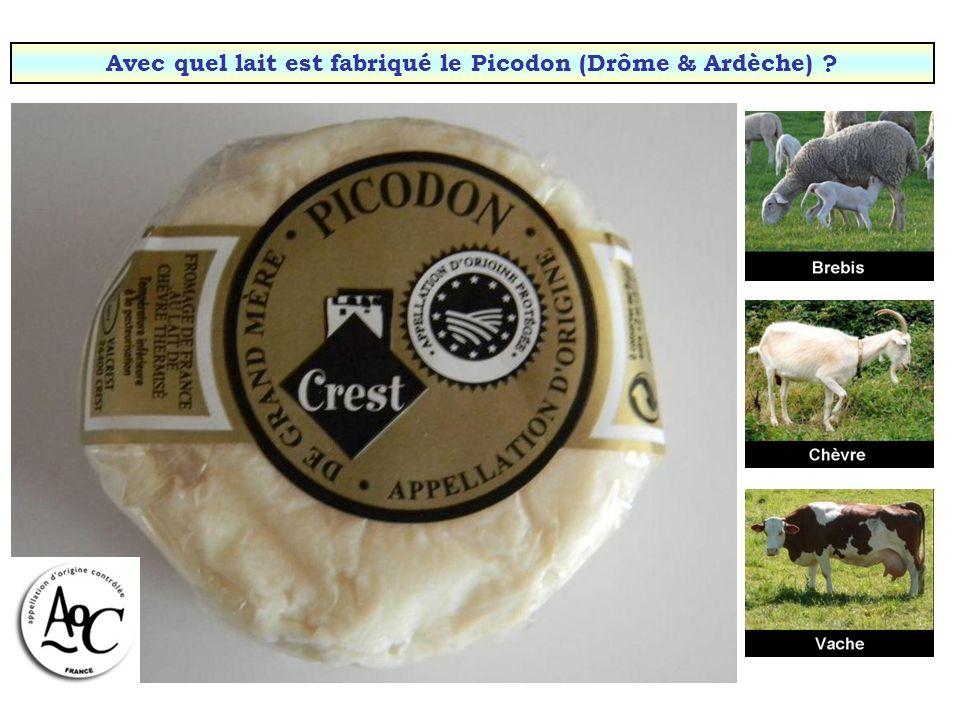 Avec quel lait est fabriqué le Picodon (Drôme & Ardèche)