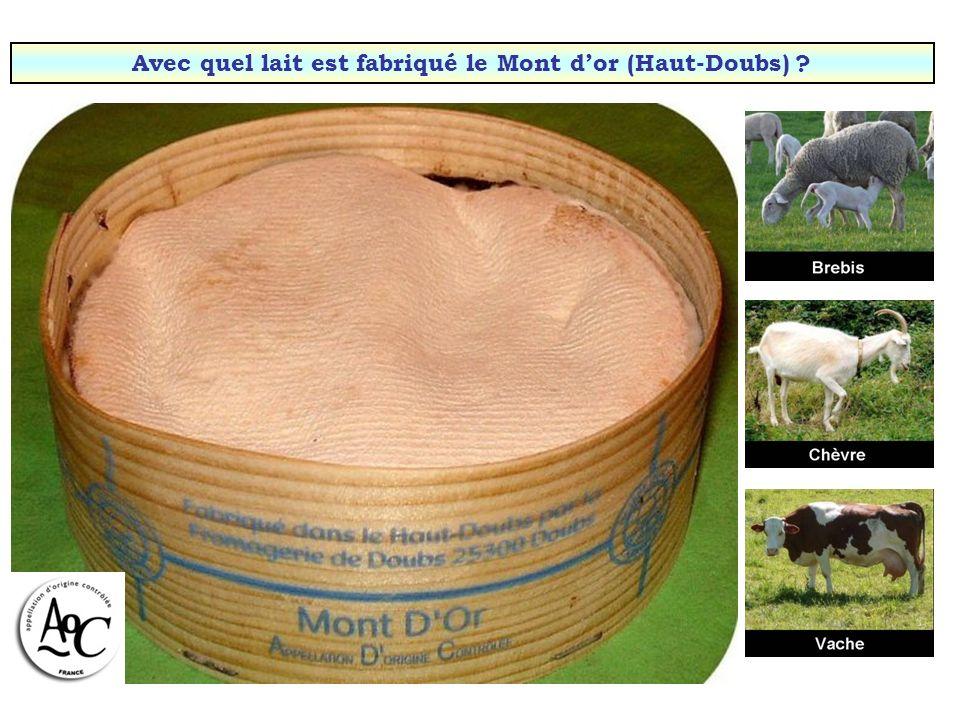 Avec quel lait est fabriqué le Mont d'or (Haut-Doubs)