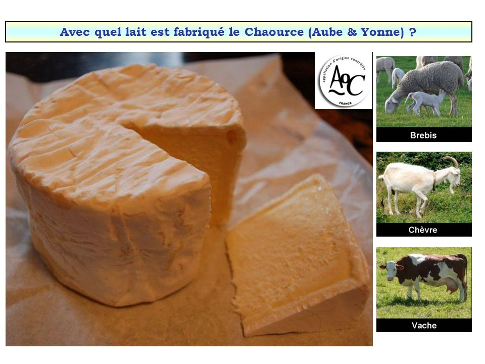 Avec quel lait est fabriqué le Chaource (Aube & Yonne)
