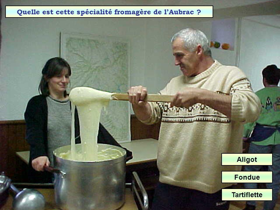 Quelle est cette spécialité fromagère de l'Aubrac