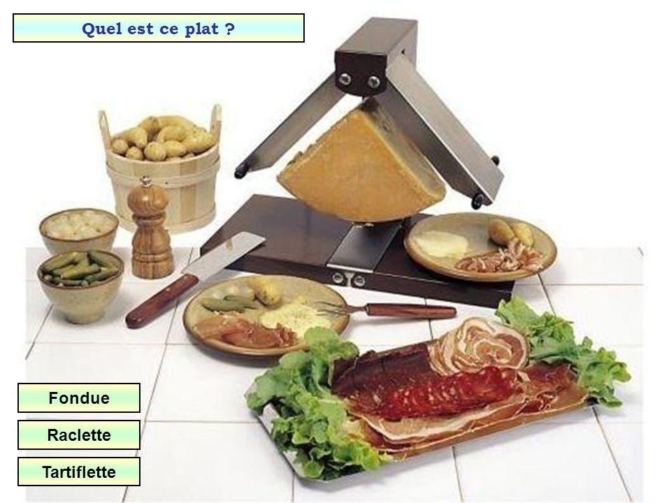 Quel est ce plat Fondue Raclette Tartiflette