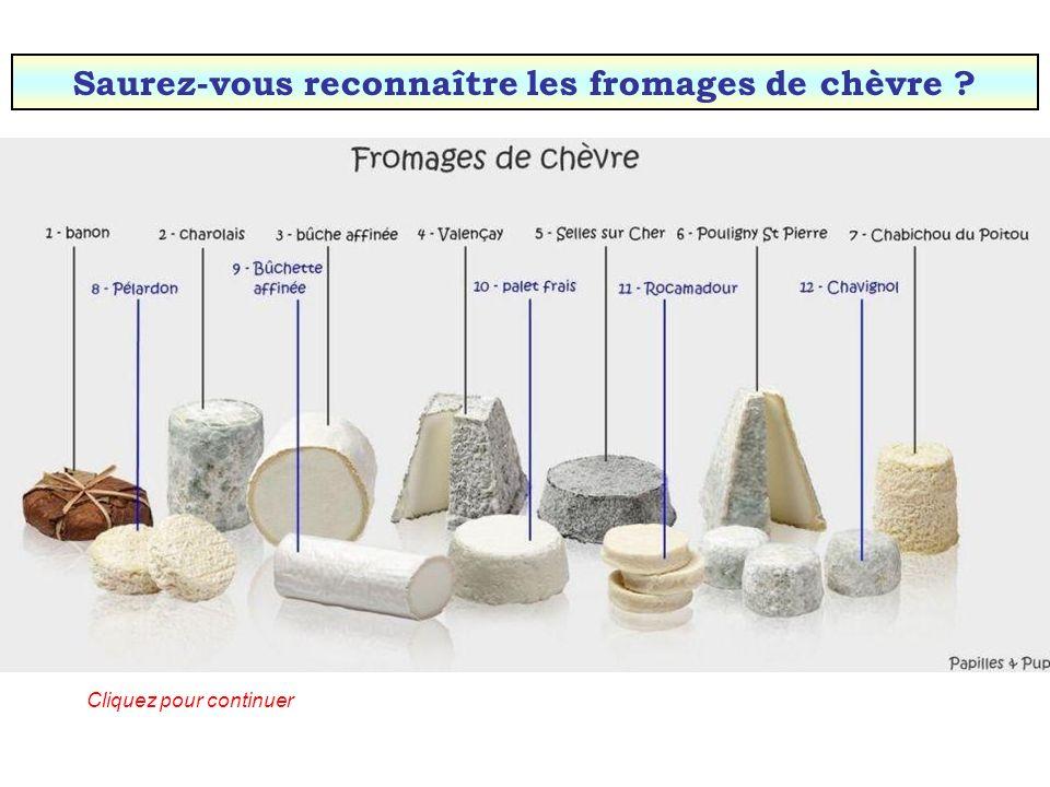 Saurez-vous reconnaître les fromages de chèvre