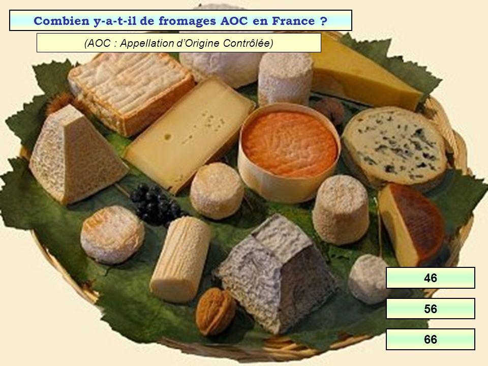 Combien y-a-t-il de fromages AOC en France