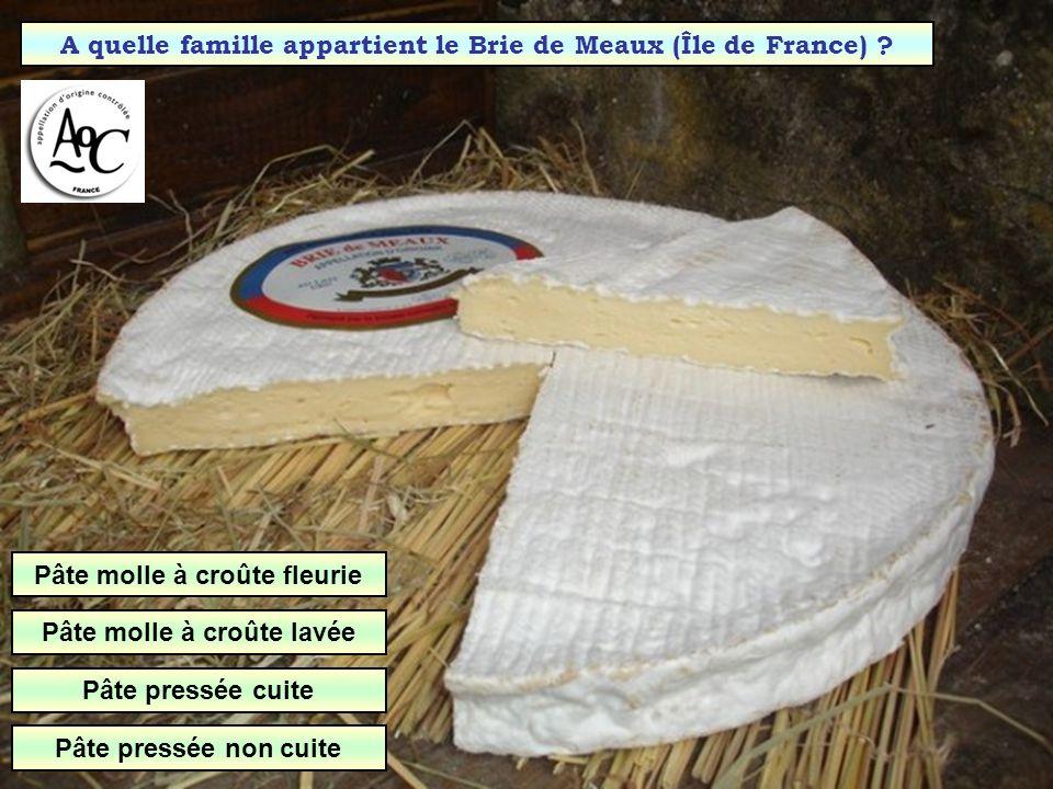 A quelle famille appartient le Brie de Meaux (Île de France)