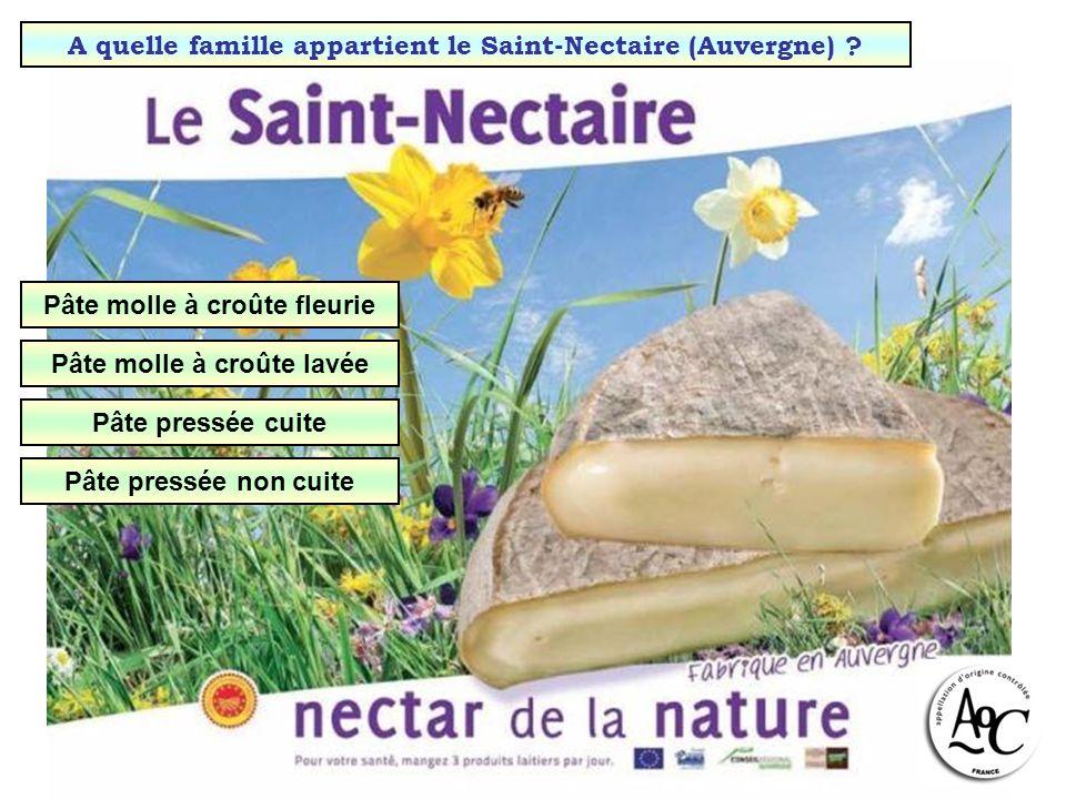 A quelle famille appartient le Saint-Nectaire (Auvergne)