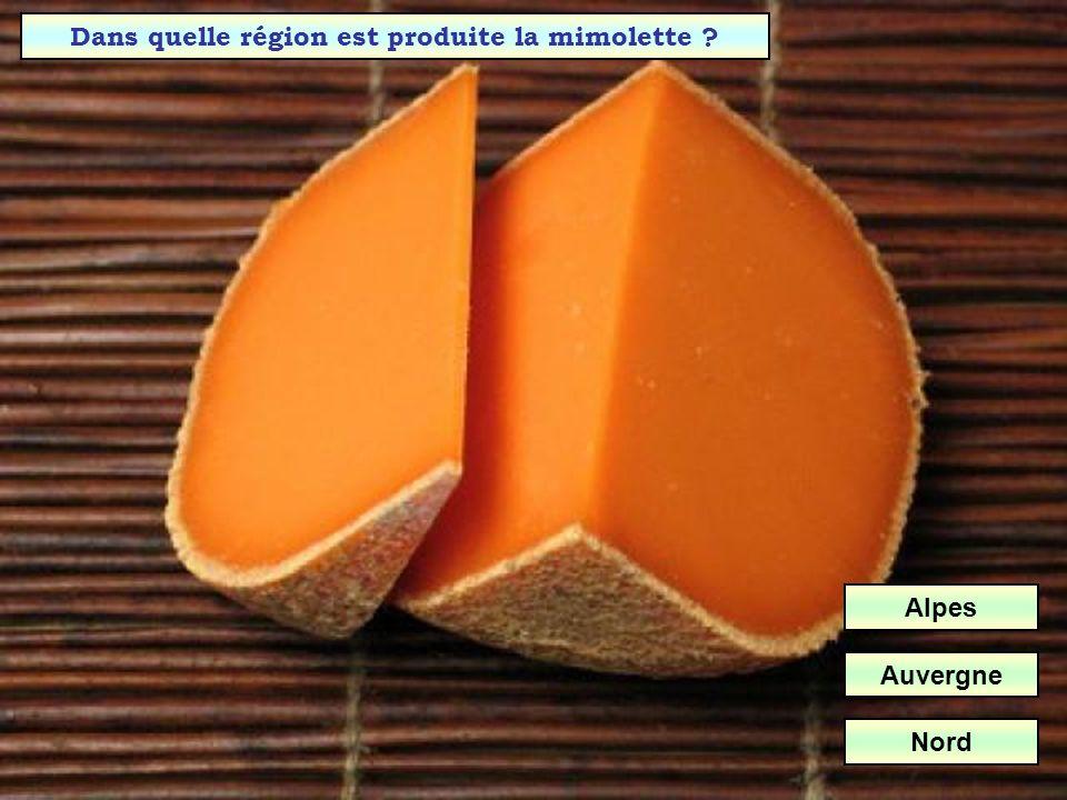Dans quelle région est produite la mimolette