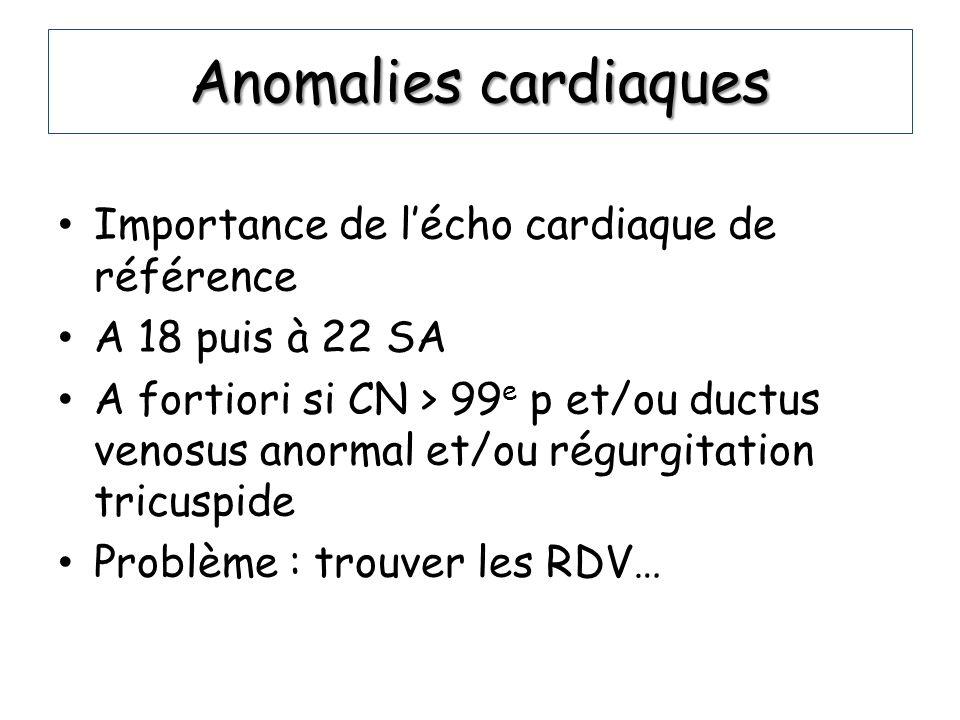 Anomalies cardiaques Importance de l'écho cardiaque de référence