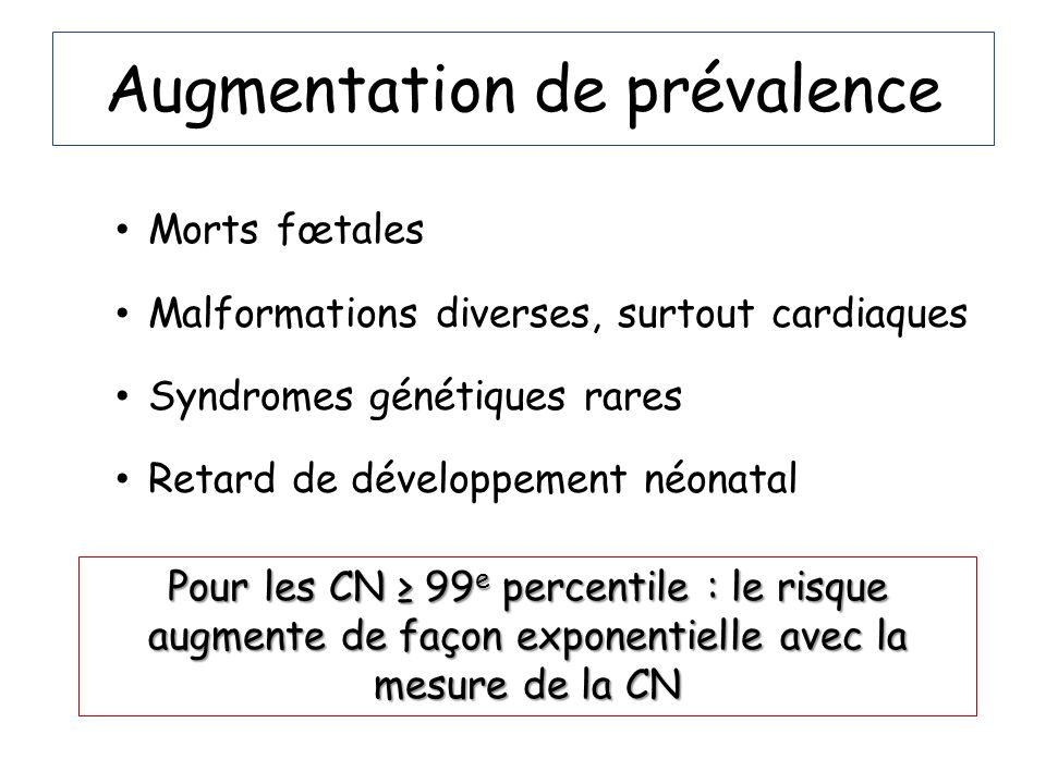 Augmentation de prévalence