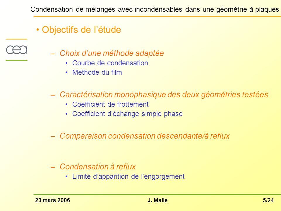 Objectifs de l'étude Choix d'une méthode adaptée