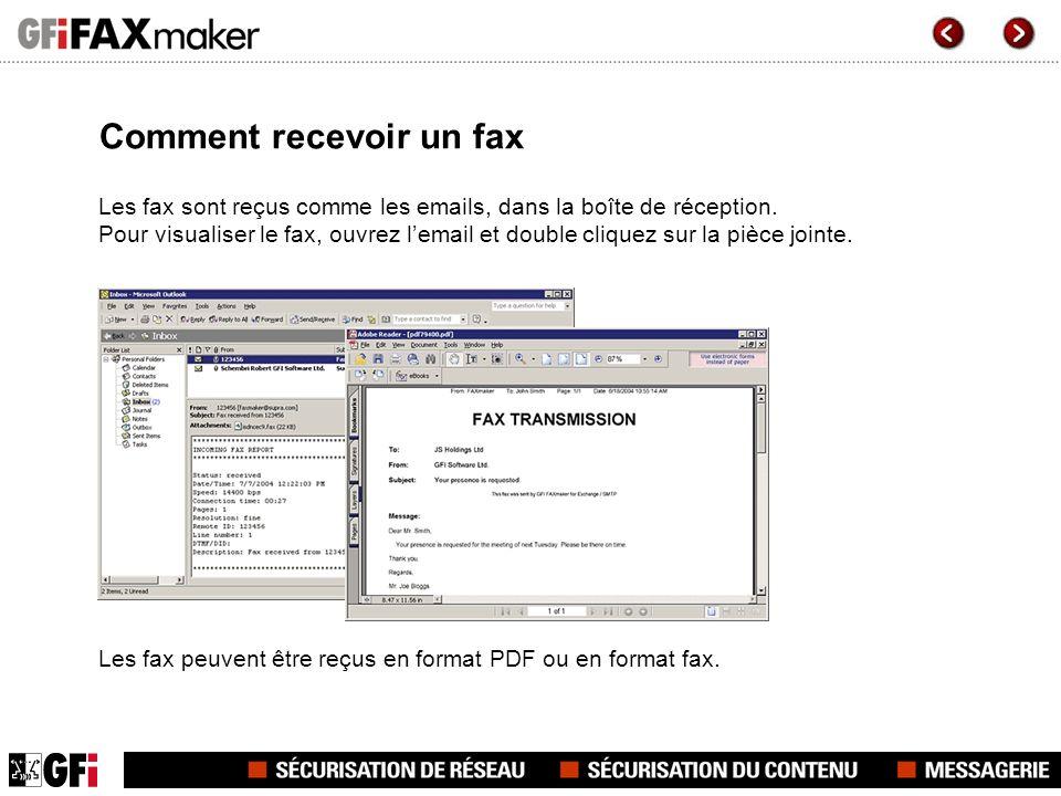 Comment recevoir un fax