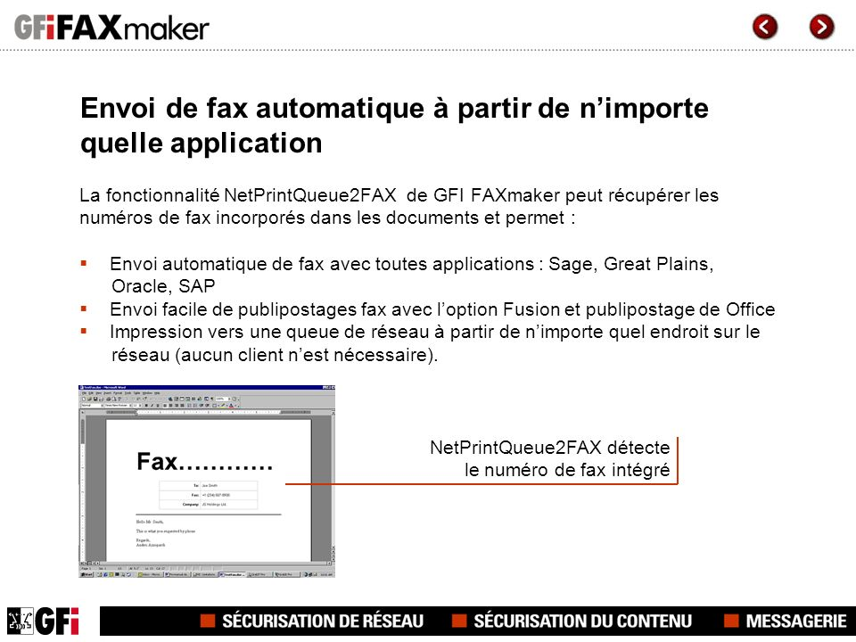 Envoi de fax automatique à partir de n'importe quelle application