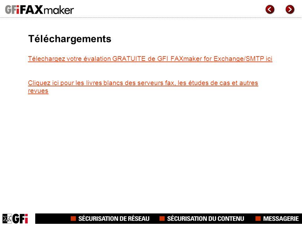 Téléchargements Télechargez votre évalation GRATUITE de GFI FAXmaker for Exchange/SMTP ici.