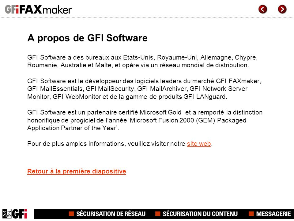 A propos de GFI Software