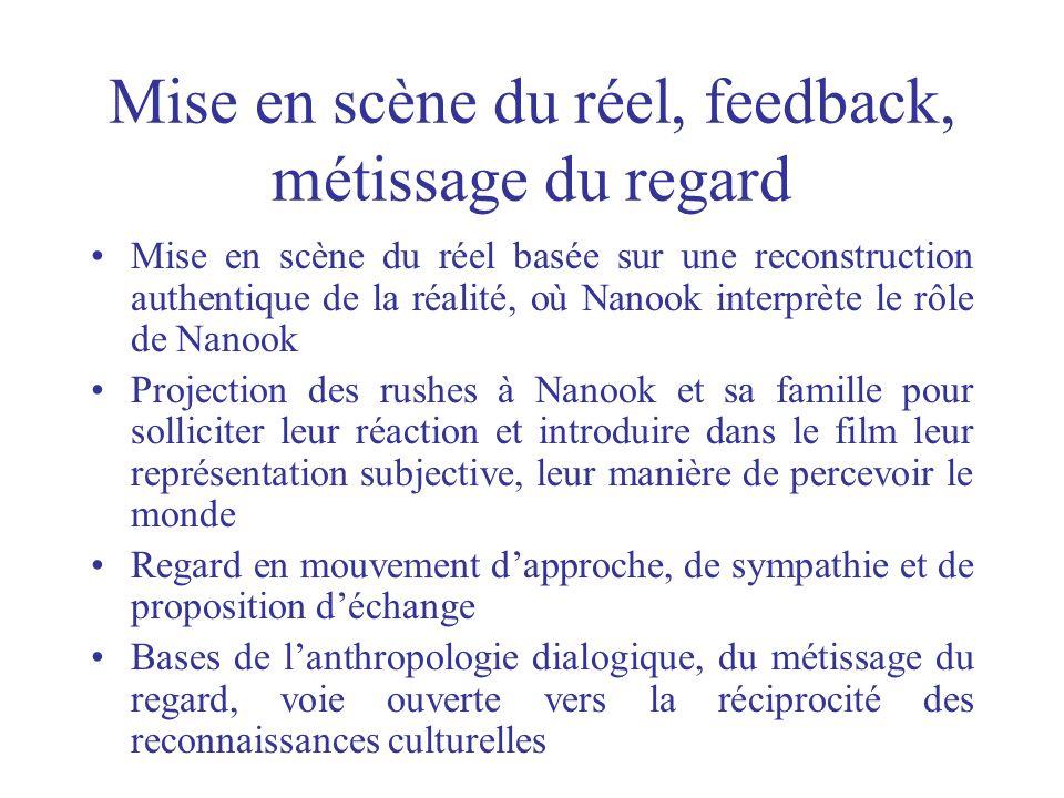 Mise en scène du réel, feedback, métissage du regard