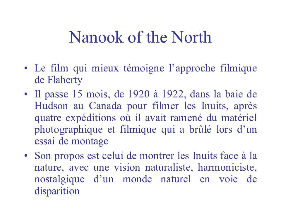 Nanook of the North Le film qui mieux témoigne l'approche filmique de Flaherty.