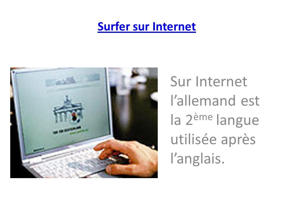 Sur Internet l'allemand est la 2ème langue utilisée après l'anglais.