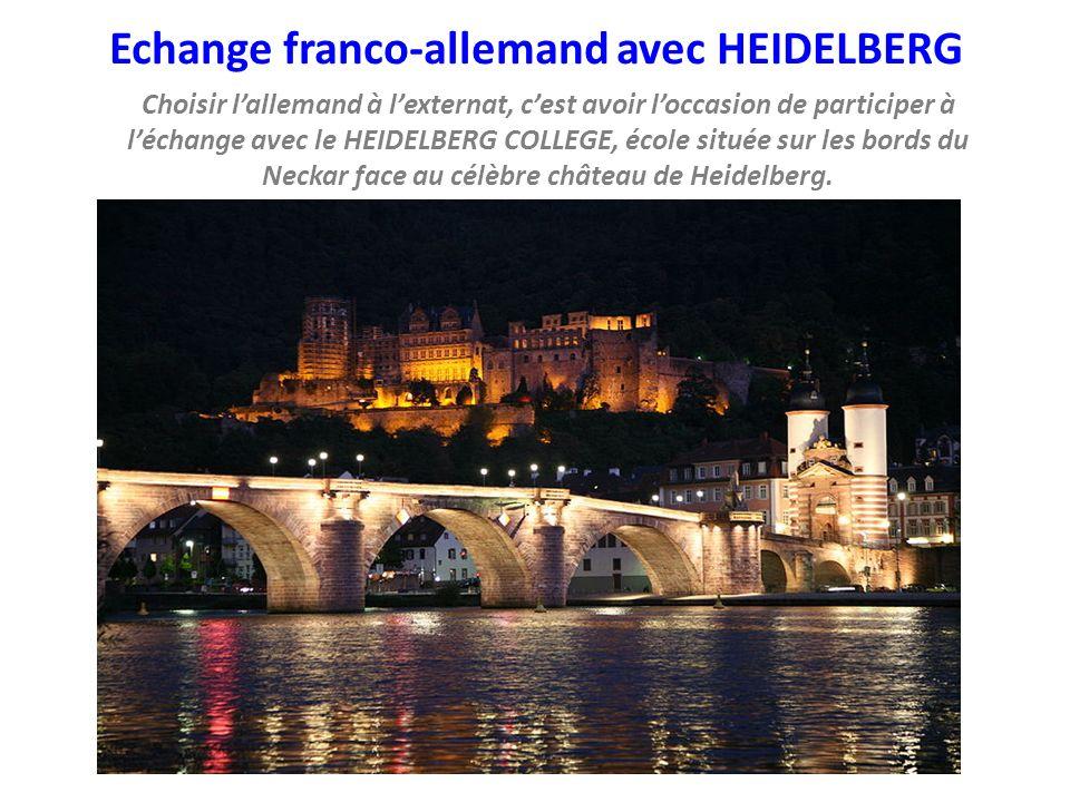 Echange franco-allemand avec HEIDELBERG