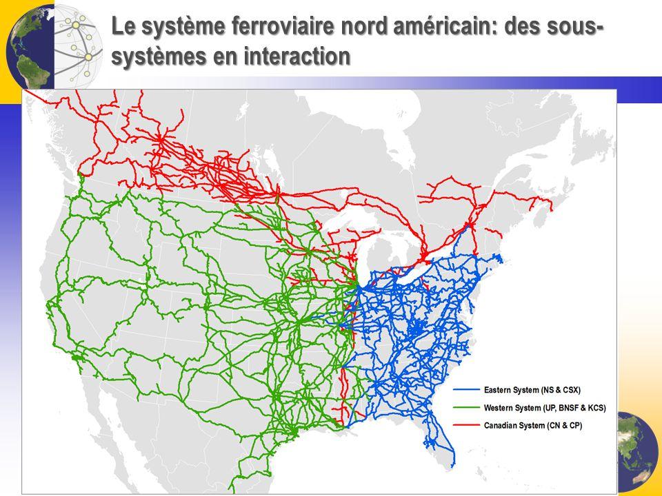 Le système ferroviaire nord américain: des sous-systèmes en interaction