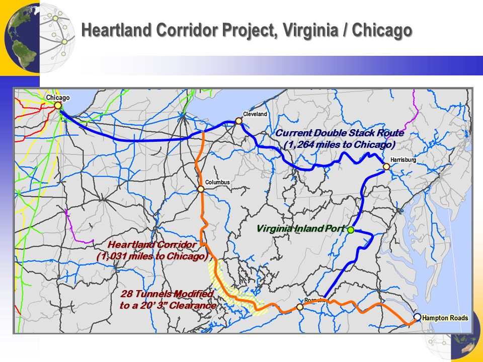Heartland Corridor Project, Virginia / Chicago