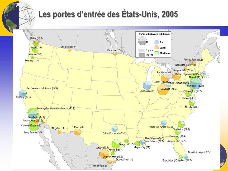 Les portes d'entrée des États-Unis, 2005