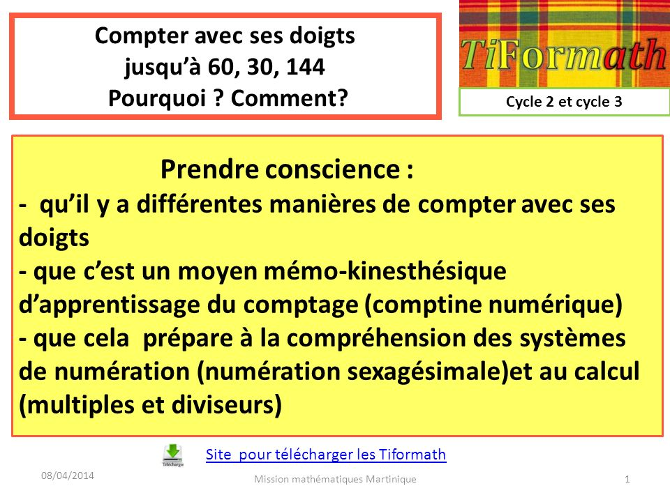 Compter avec ses doigts