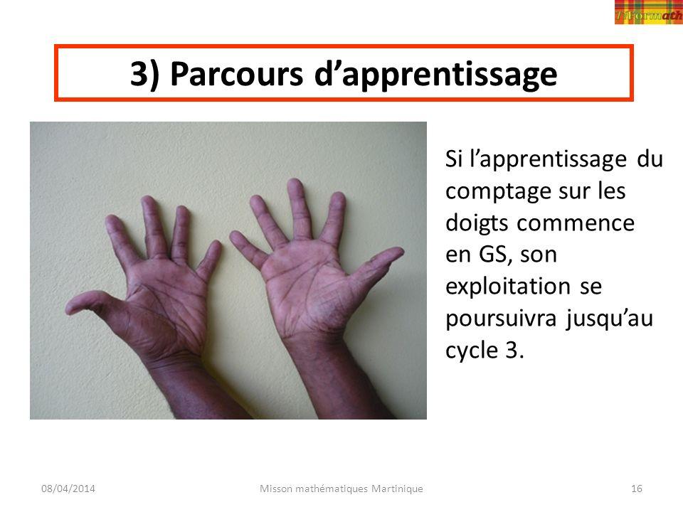 3) Parcours d'apprentissage