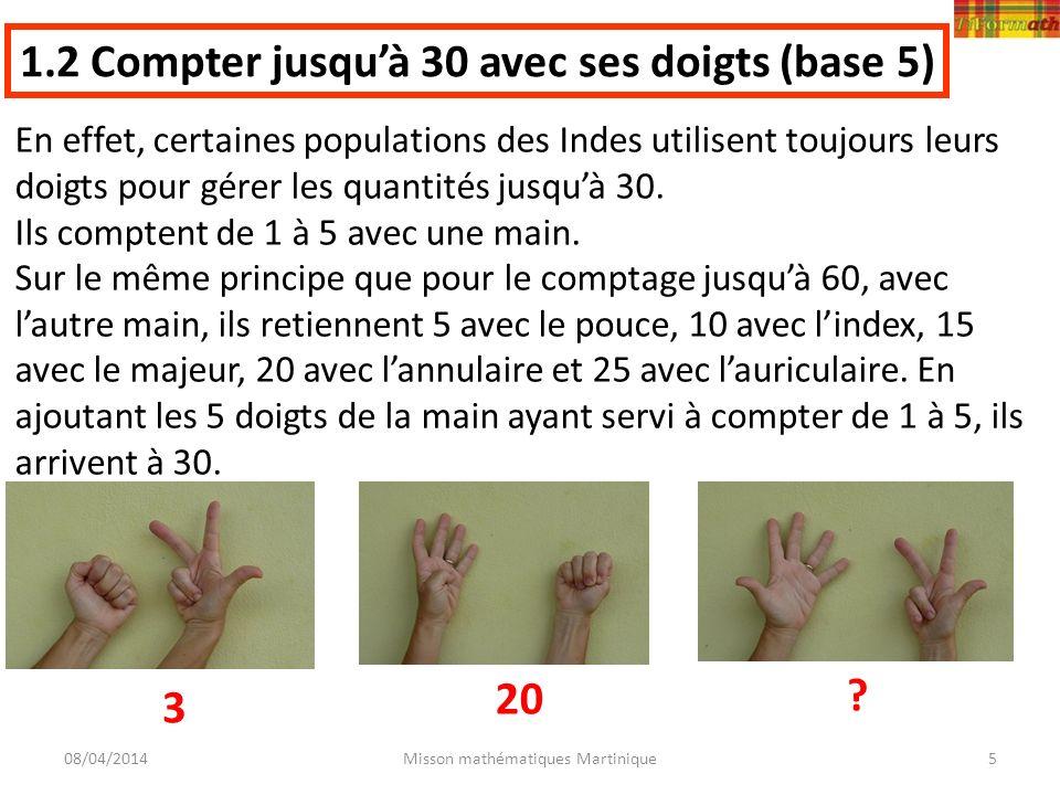 1.2 Compter jusqu'à 30 avec ses doigts (base 5)