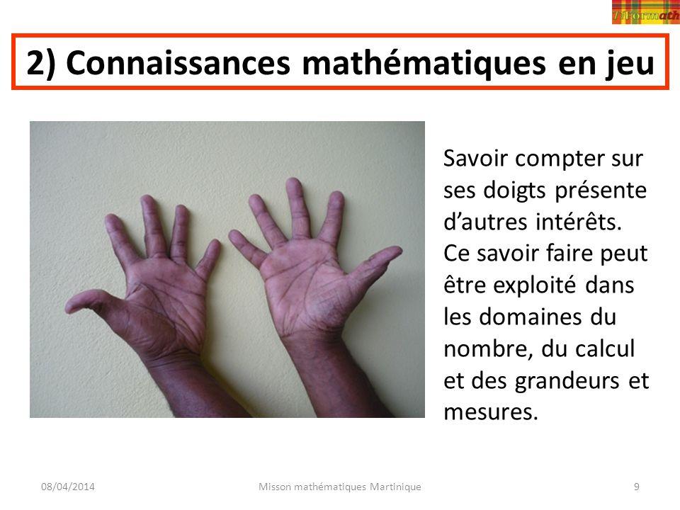 2) Connaissances mathématiques en jeu