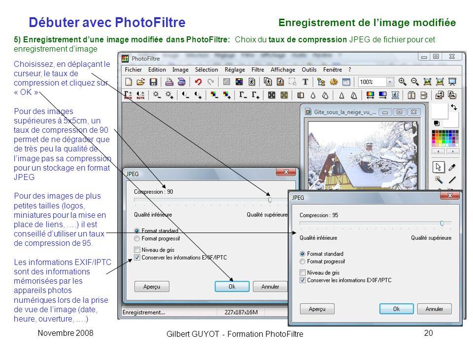 Enregistrement de l'image modifiée