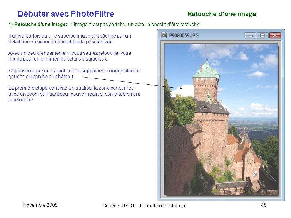 Retouche d'une image 1) Retouche d'une image: L'image n'est pas parfaite, un détail a besoin d'être retouché.