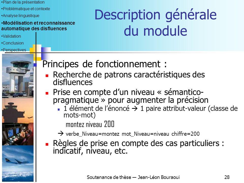 Description générale du module
