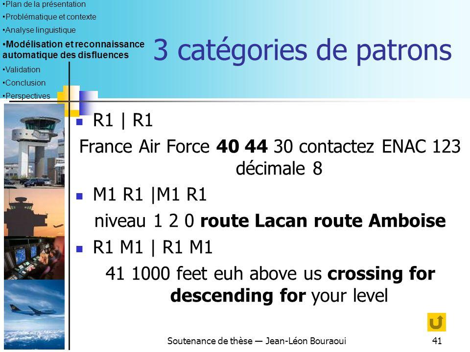 3 catégories de patrons R1 | R1