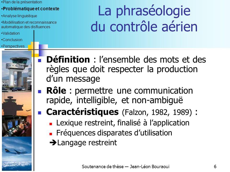 La phraséologie du contrôle aérien