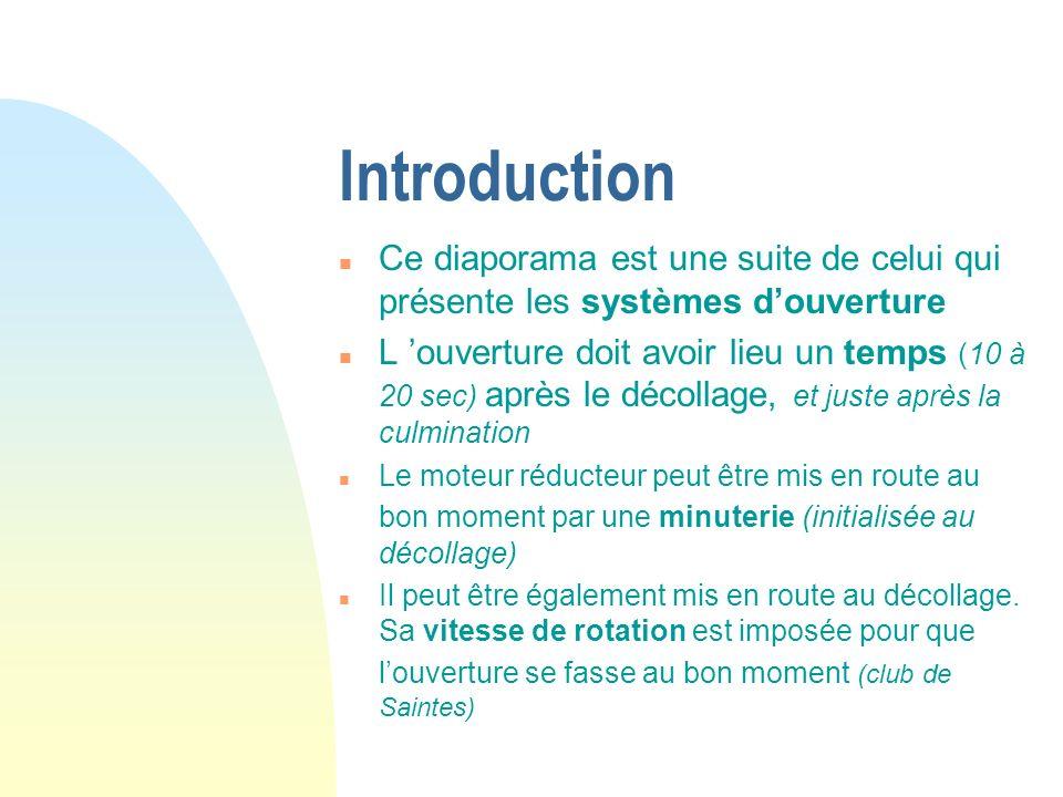 Introduction Ce diaporama est une suite de celui qui présente les systèmes d'ouverture.