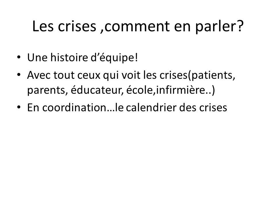 Les crises ,comment en parler