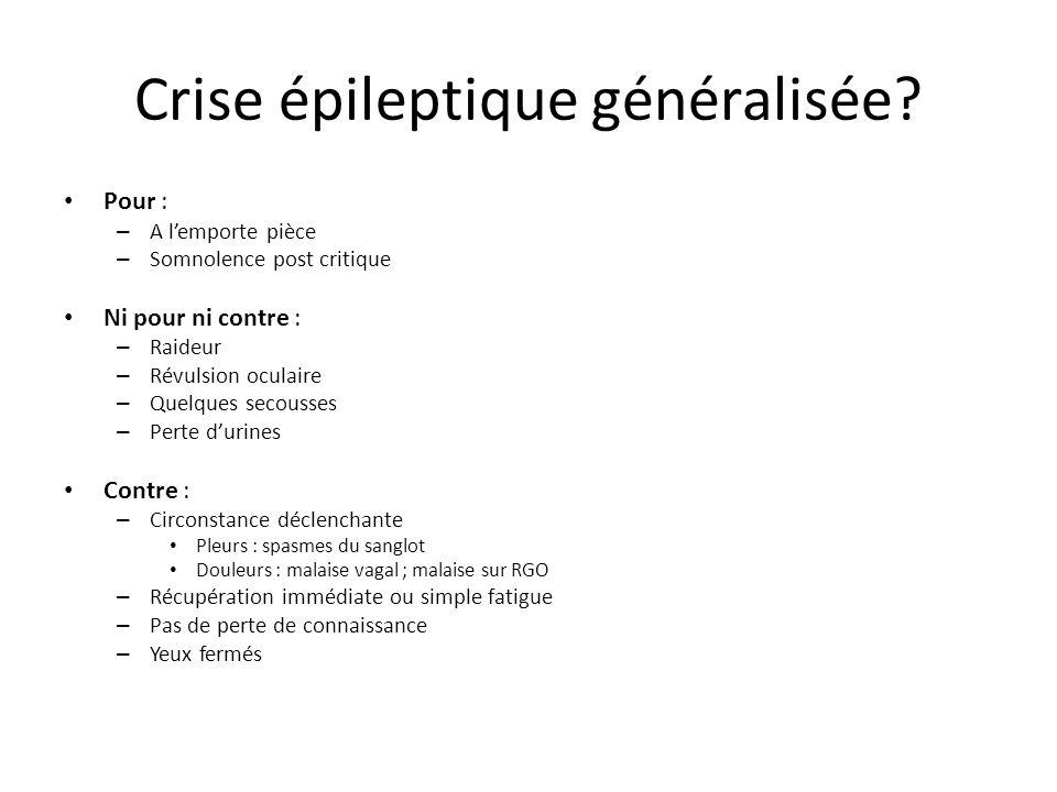 Crise épileptique généralisée