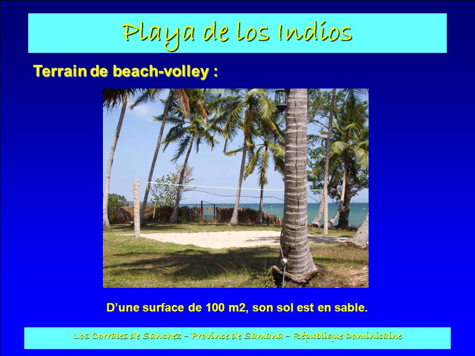 Terrain de beach-volley :