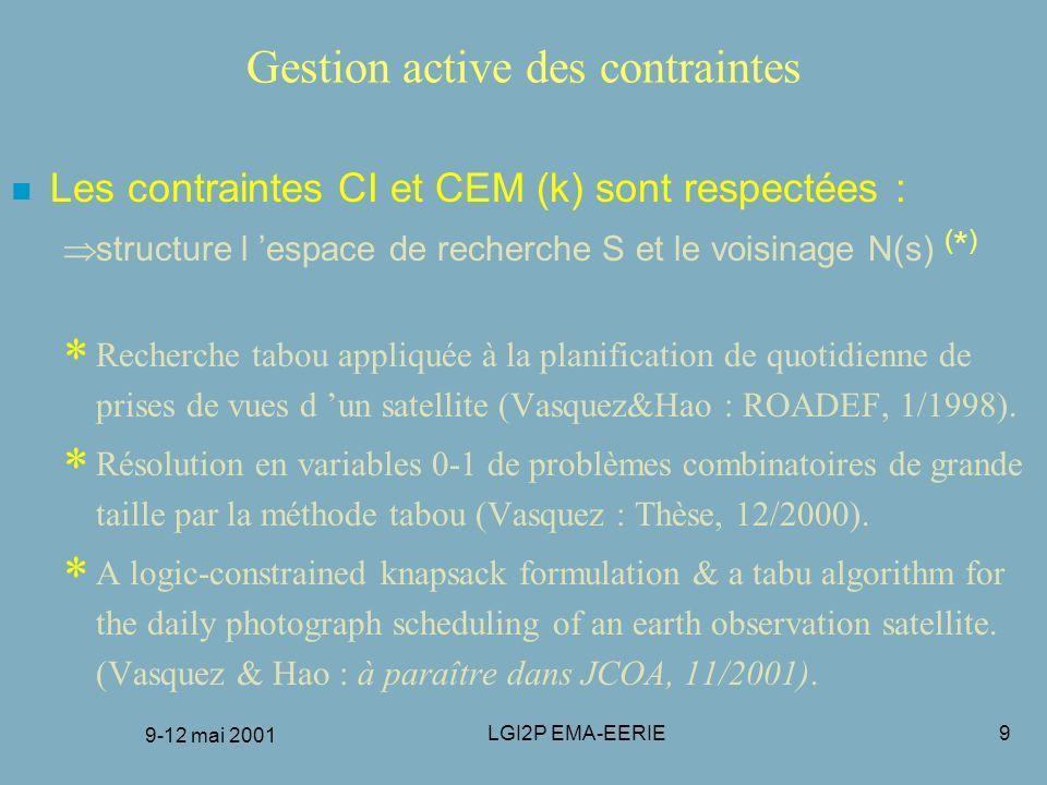Gestion active des contraintes