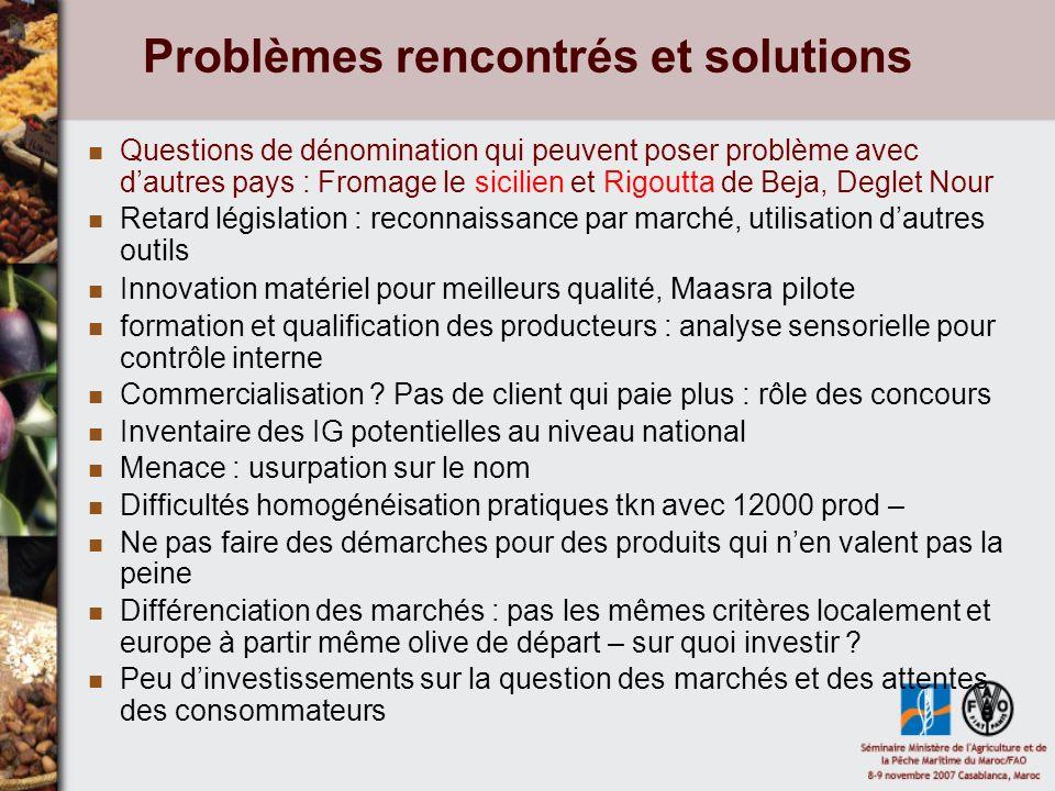 Problèmes rencontrés et solutions