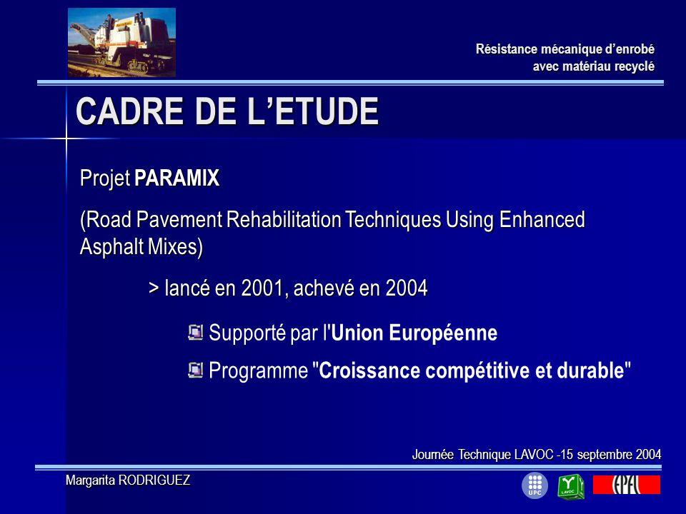 CADRE DE L'ETUDE Projet PARAMIX