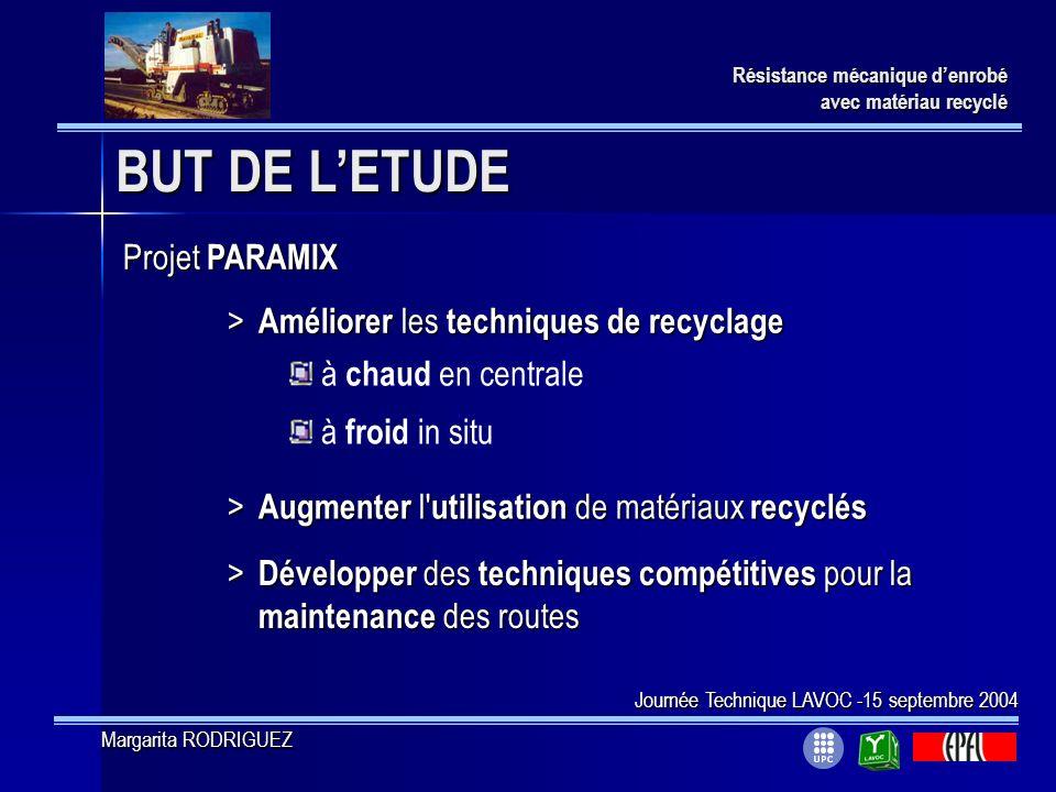 BUT DE L'ETUDE Projet PARAMIX