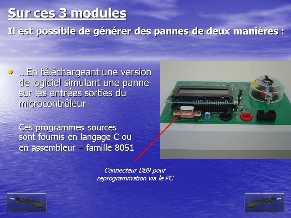 Connecteur DB9 pour reprogrammation via le PC