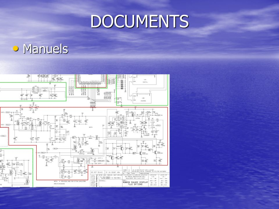 DOCUMENTS Manuels