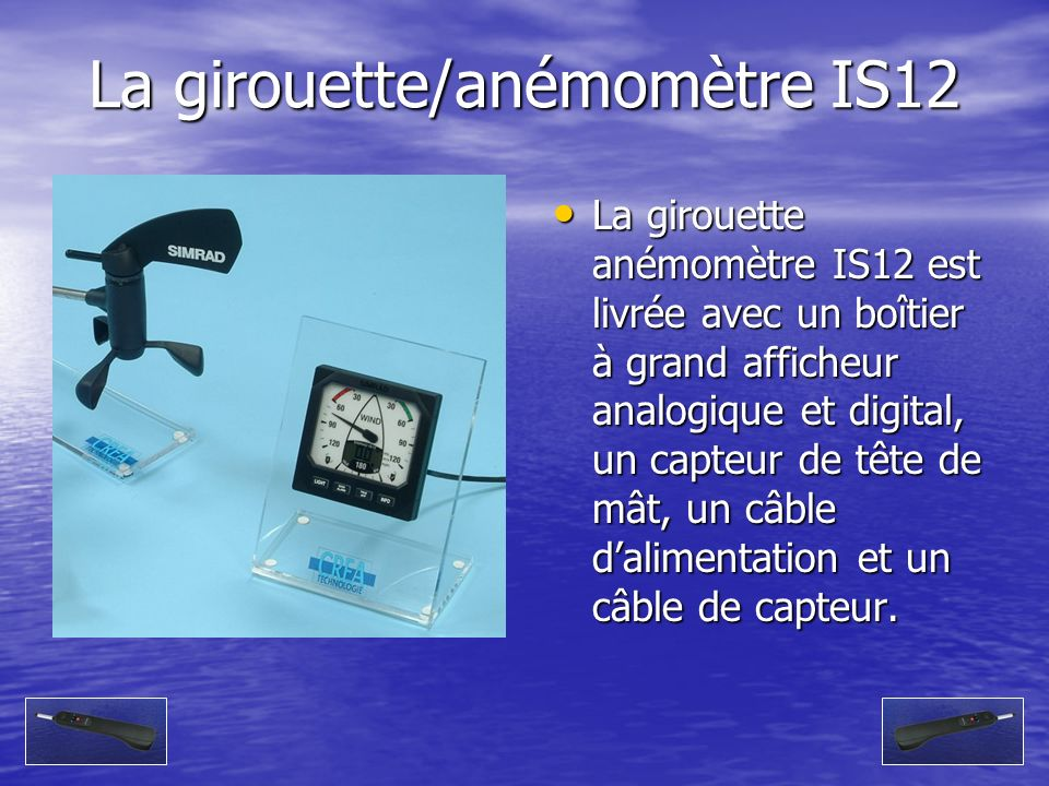 La girouette/anémomètre IS12