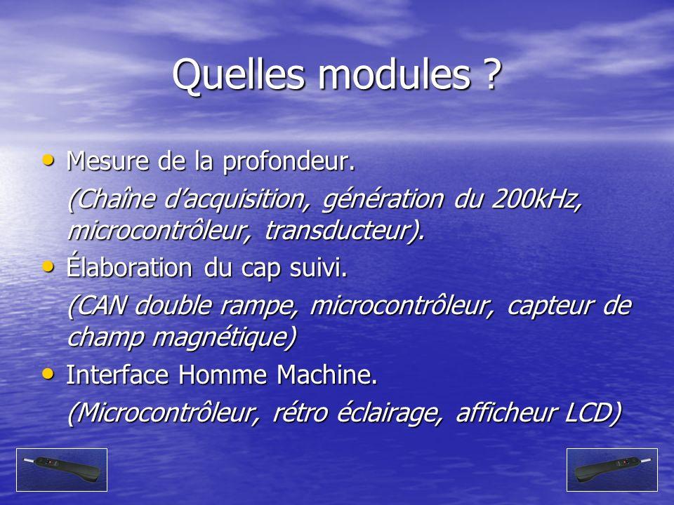 Quelles modules Mesure de la profondeur.