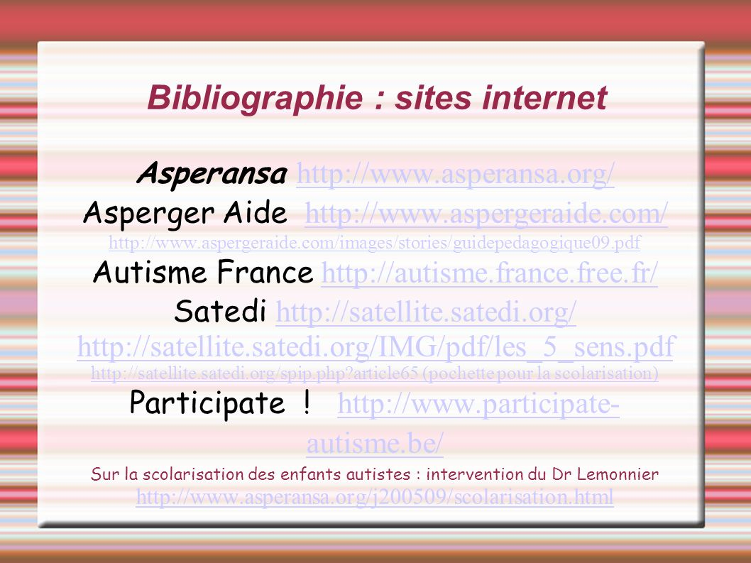 Bibliographie : sites internet