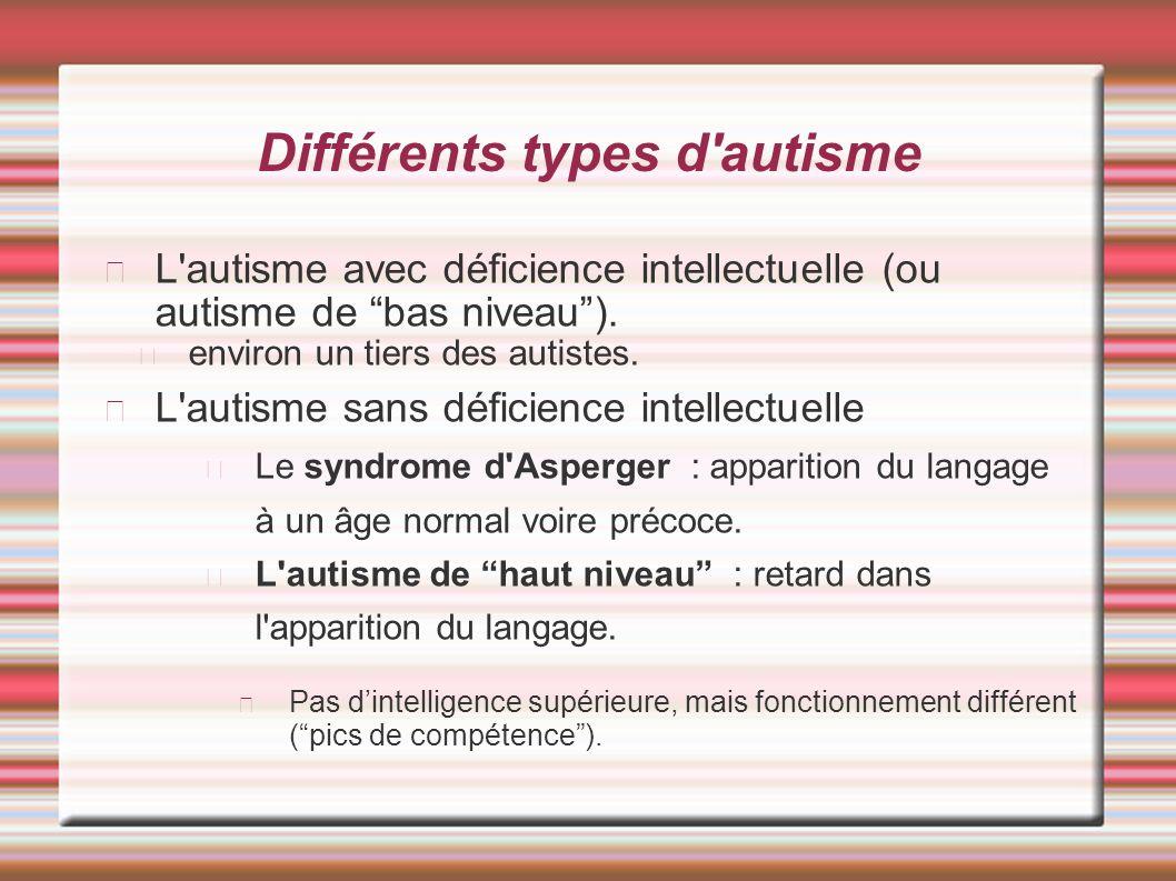 Différents types d autisme